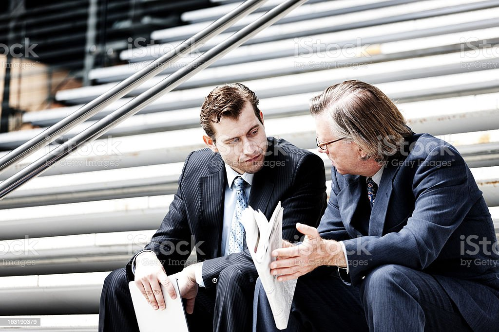 Outdoor businessmen royalty-free stock photo