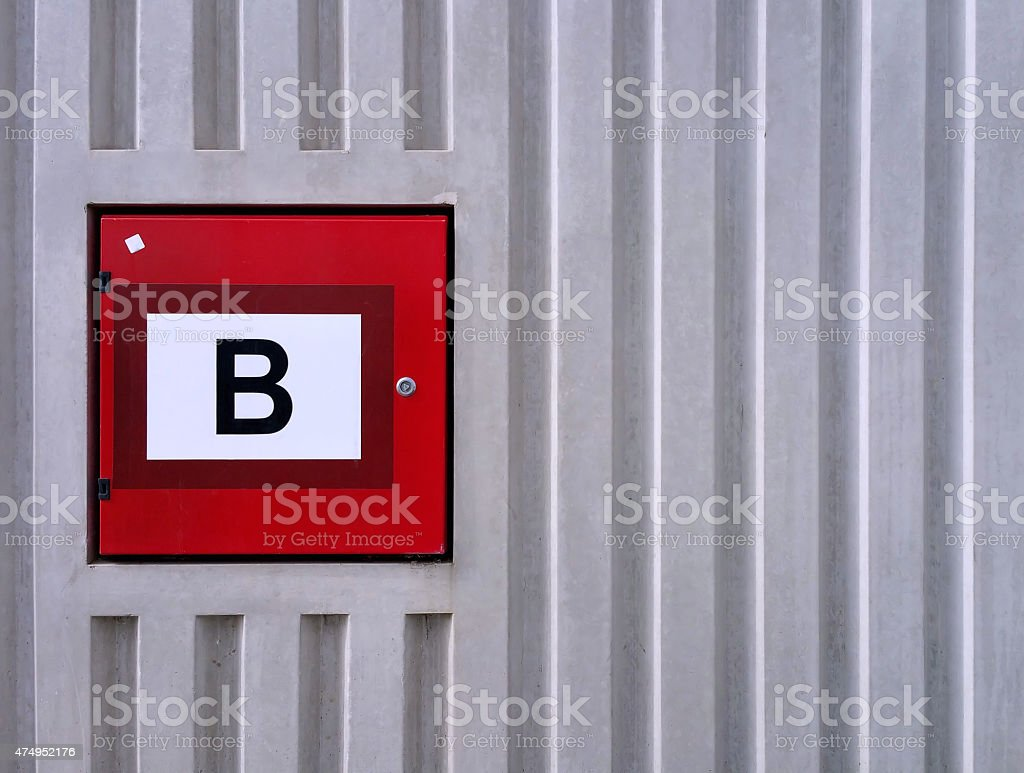 Outdoor cabinet for firefighting equipment stock photo