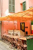 Outdoor Cafe in Riomaggiore, Cinque Terre, Italy
