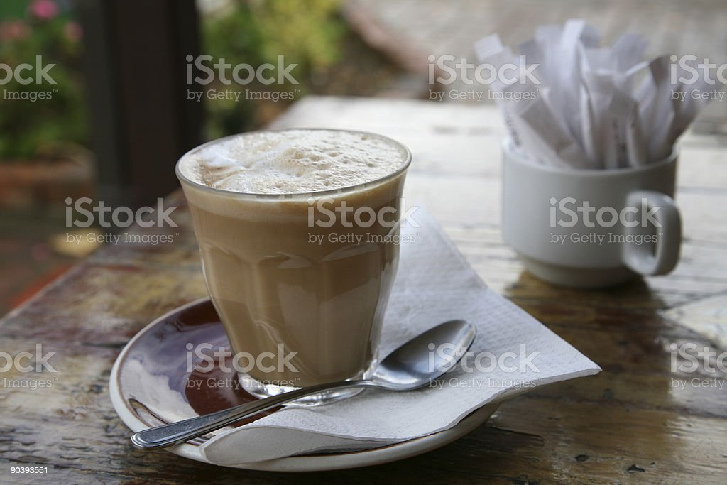 Outdoor cafe royalty-free stock photo