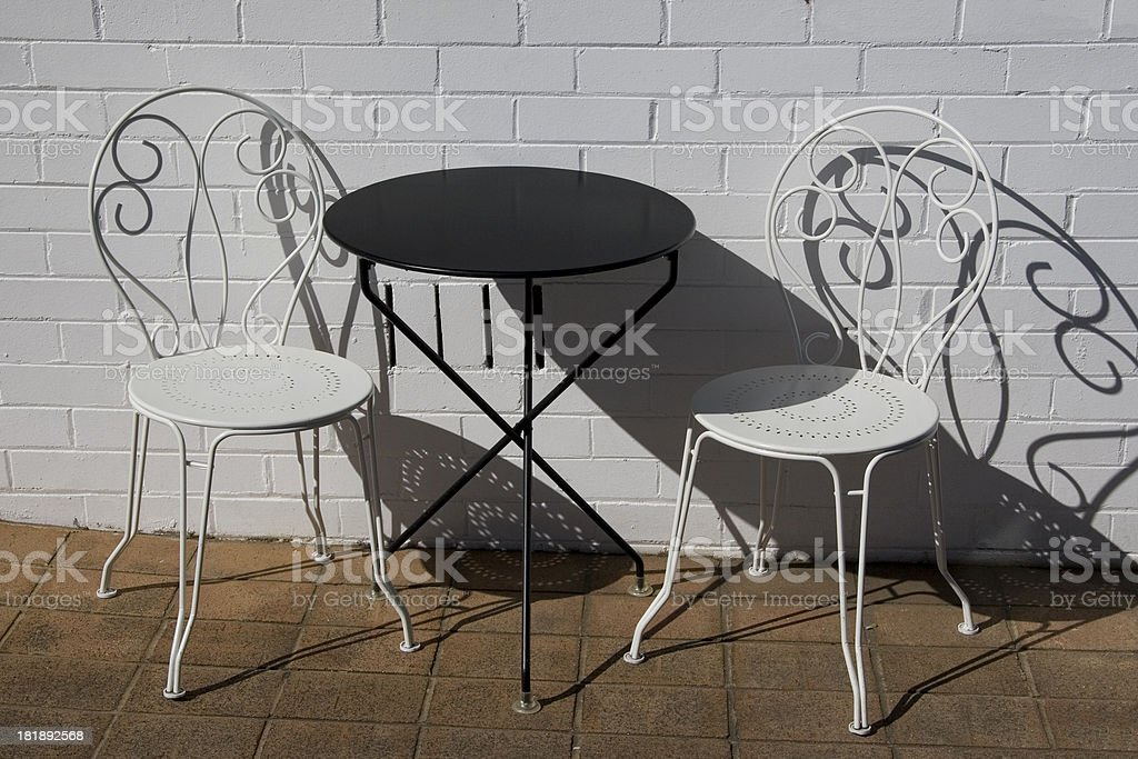 Outdoor cafe table royalty-free stock photo