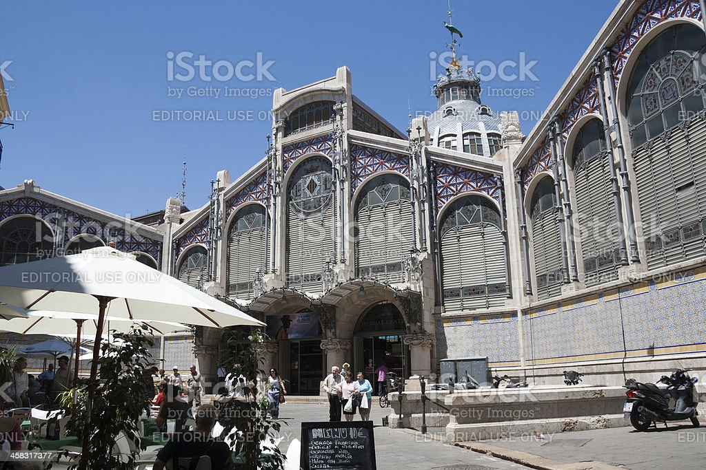 Mercado Central exterior - Valencia royalty-free stock photo