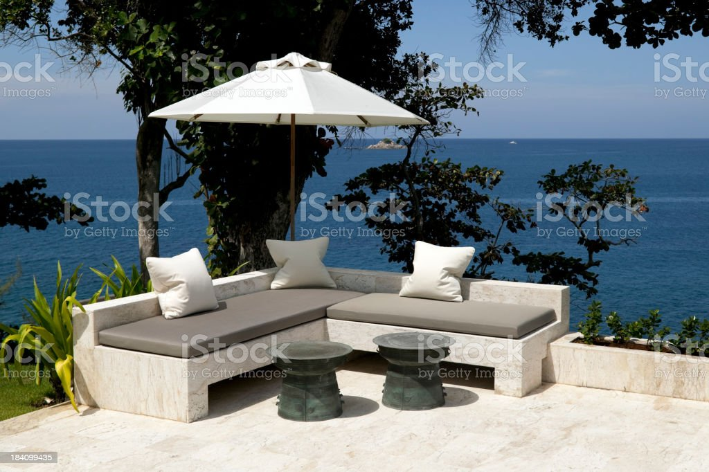 outdoor chair furniture stock photo