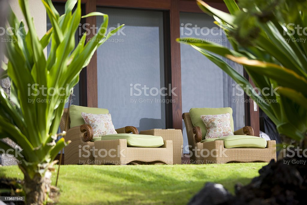 Outdoor Chairs royalty-free stock photo