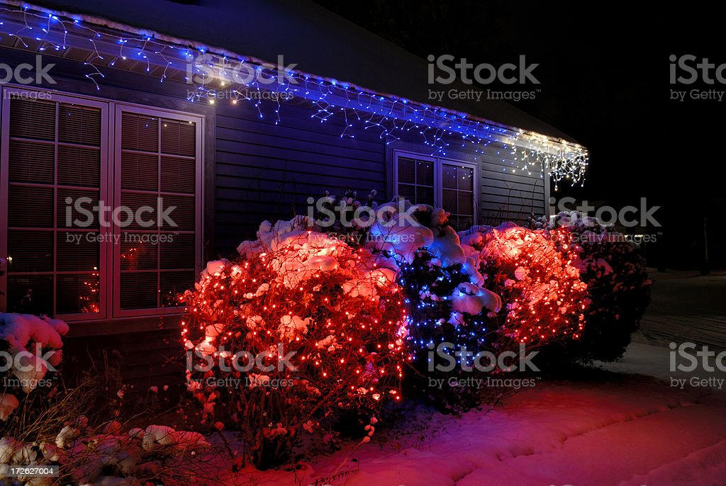 Outdoor christmas decorations royalty-free stock photo