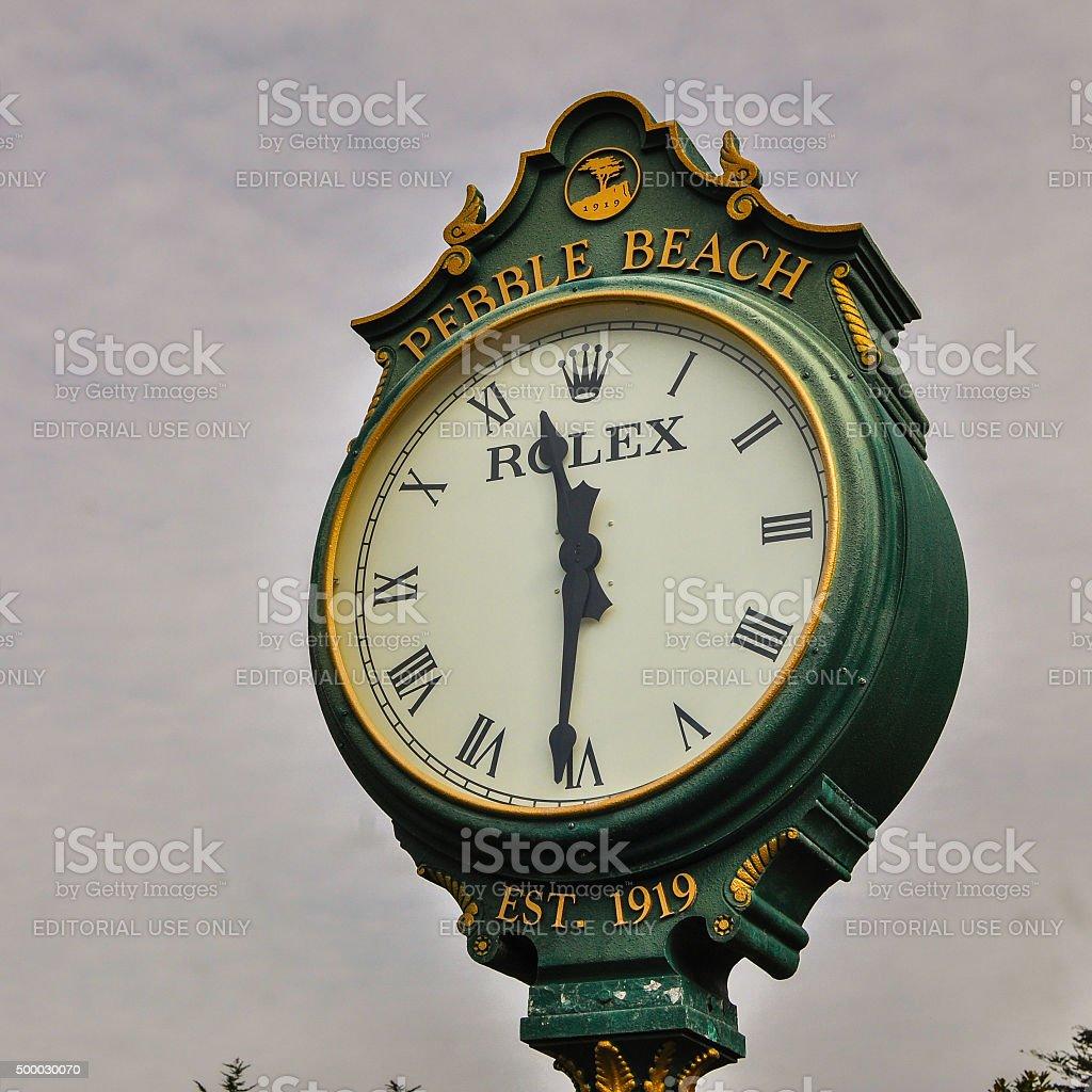 ROLEX Outdoor Clock stock photo