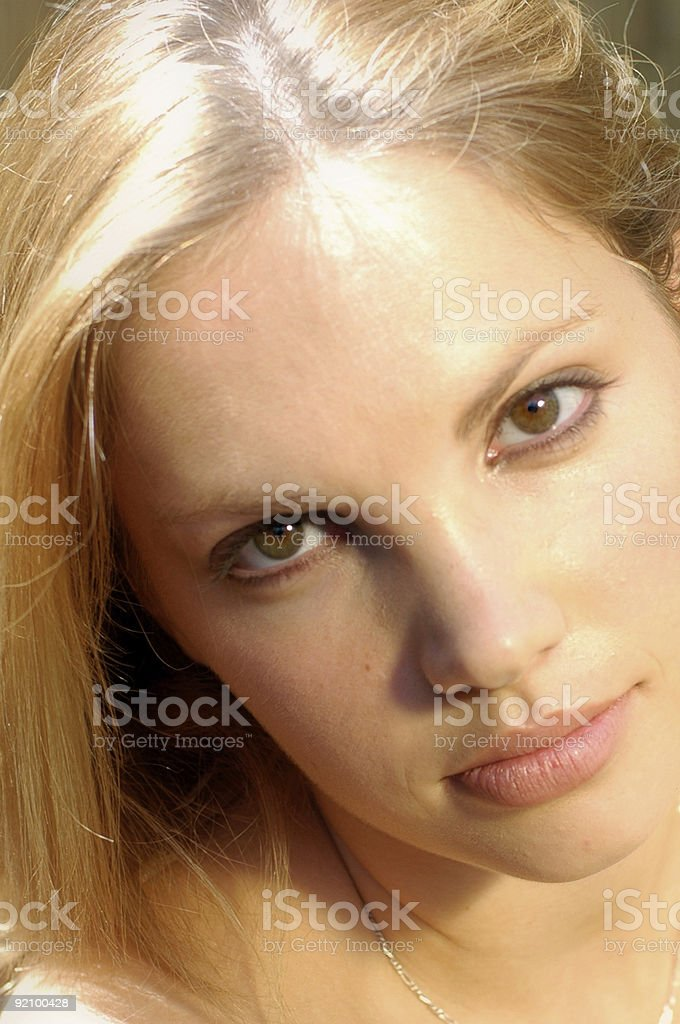 Outdoor Closeup of a  blonde beauty royalty-free stock photo