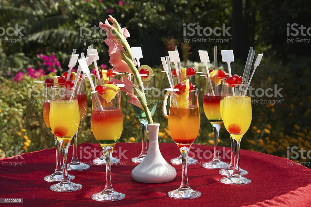 outdoor cocktail party royalty-free stock photo