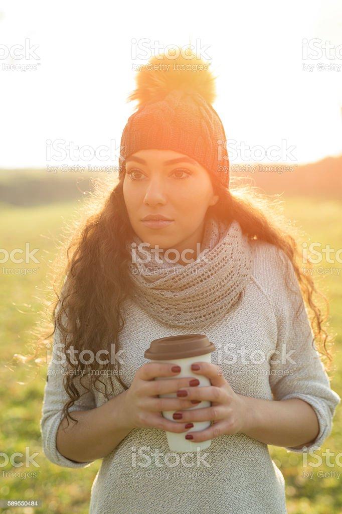 Outdoor coffee stock photo