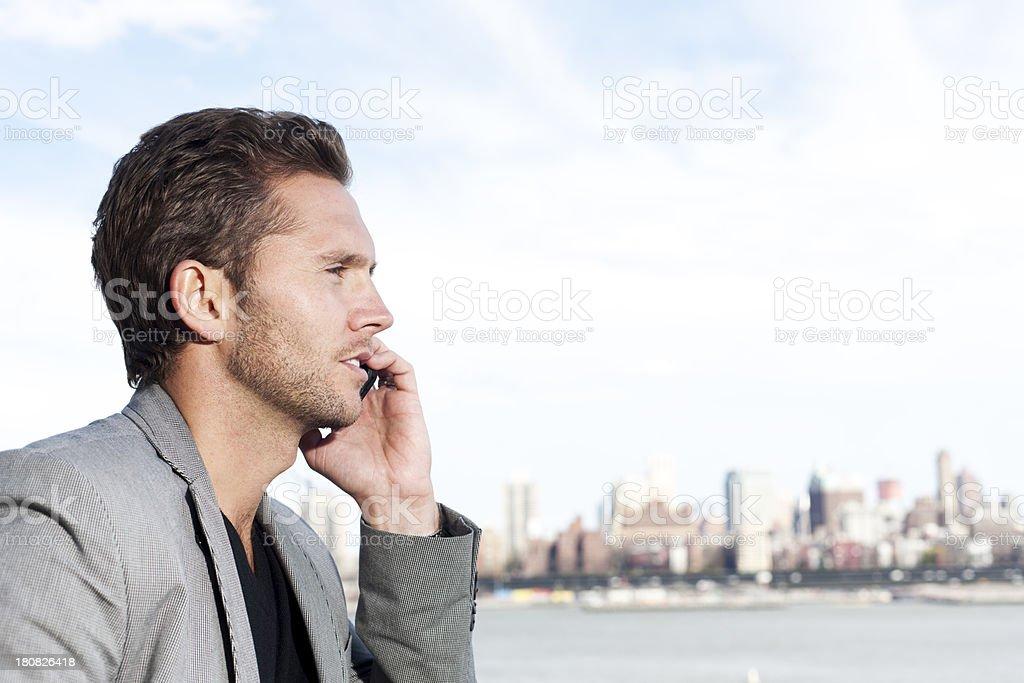 Outdoor communication, New York City royalty-free stock photo