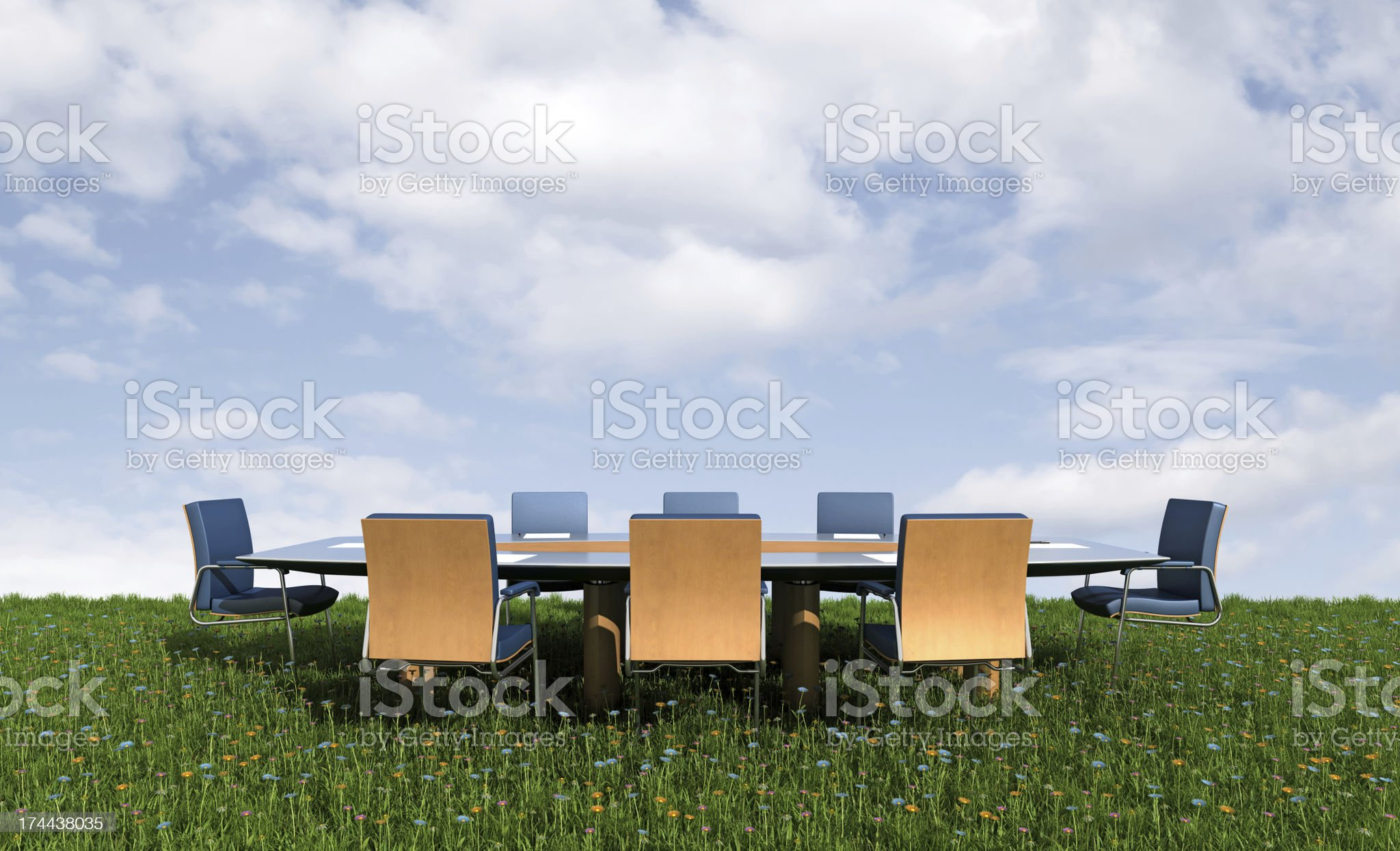 Outdoor conference royalty-free stock photo
