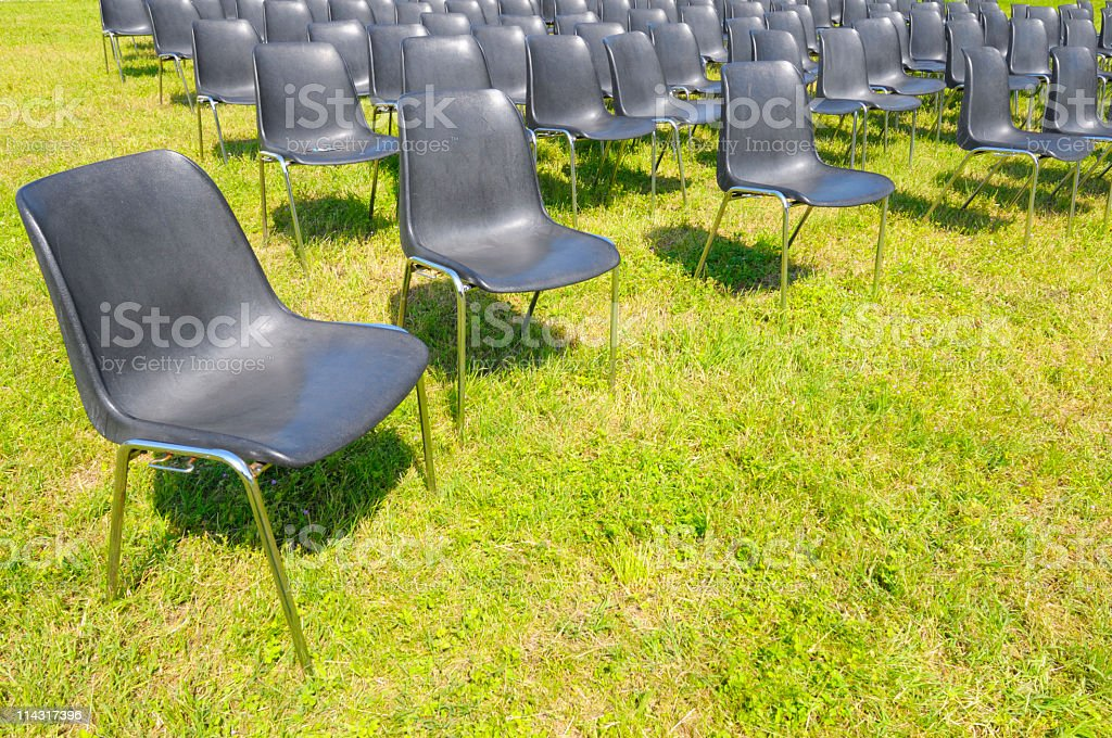 Outdoor Conference Seating royalty-free stock photo