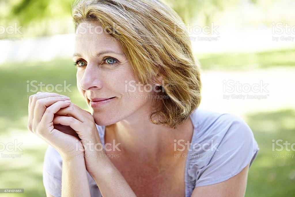 Outdoor contemplation stock photo