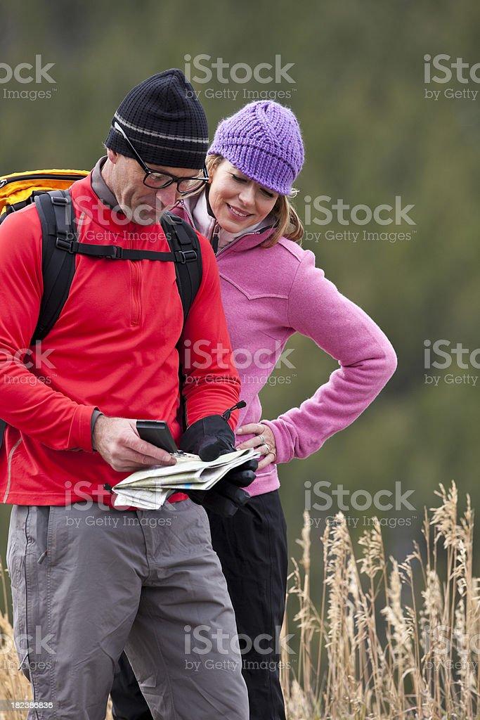 Outdoor couple stock photo