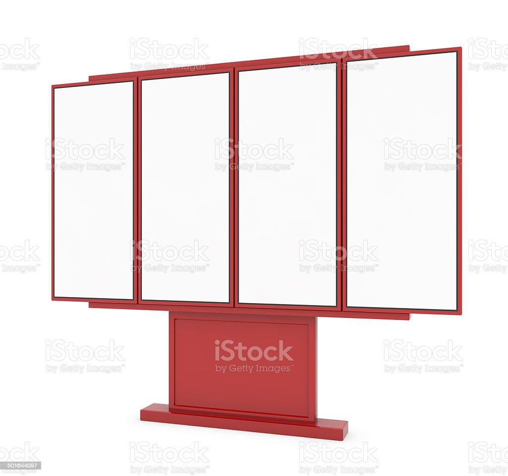 Outdoor Digital Menu Board stock photo