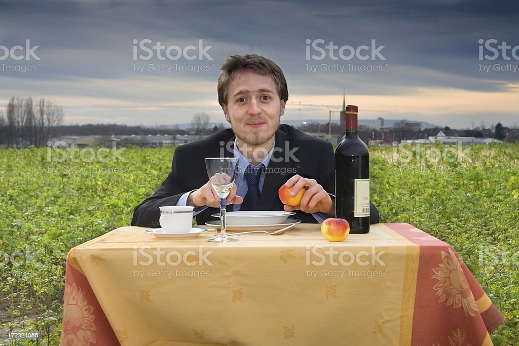 Outdoor dinner royalty-free stock photo