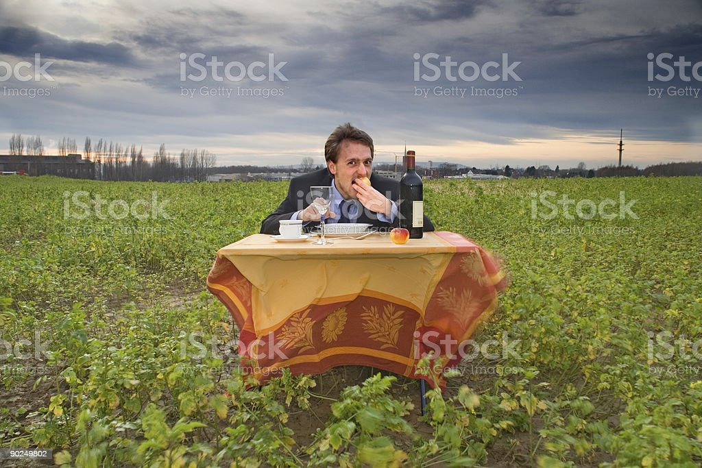 Outdoor dinner stock photo