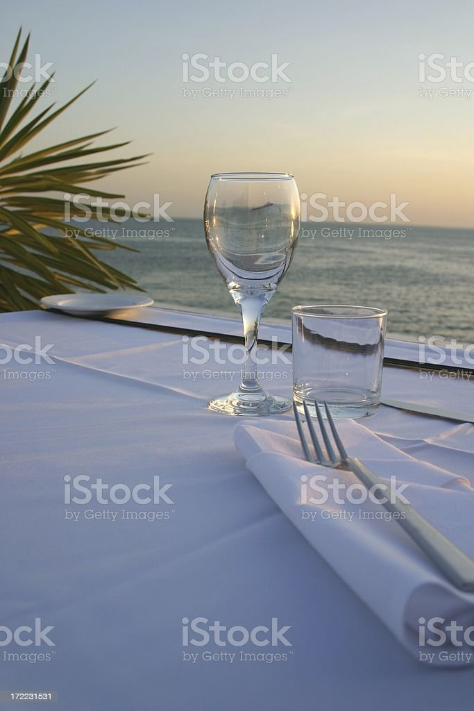 outdoor dinner setting royalty-free stock photo