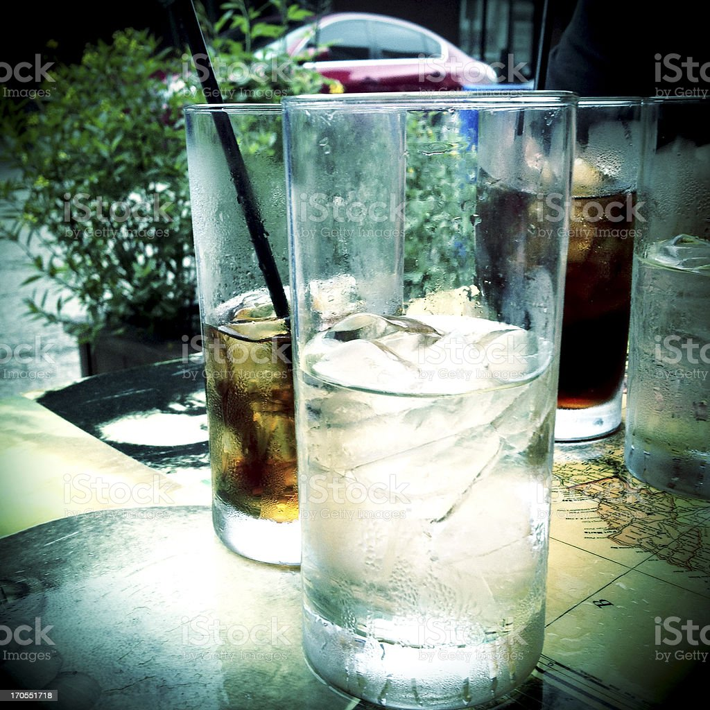 Outdoor Drinks royalty-free stock photo
