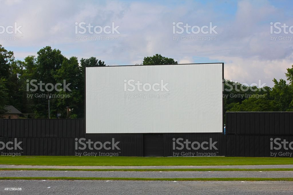 Outdoor Drive-In Movie Screen stock photo
