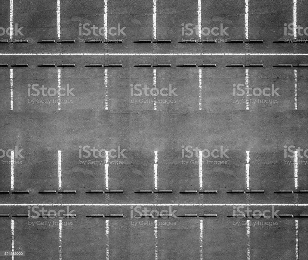 Spacing Of Parking Lot Lights: Outdoor Empty Space At Car Parking Lot Stock Photo