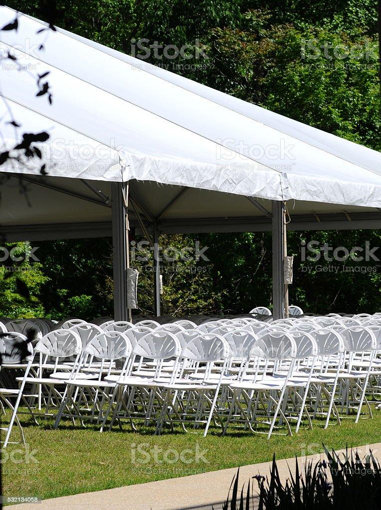 Assentos para eventos ao ar livre foto royalty-free