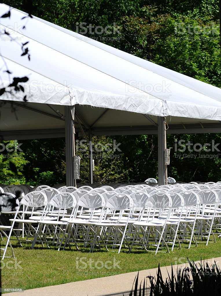 Outdoor Event Seating stock photo