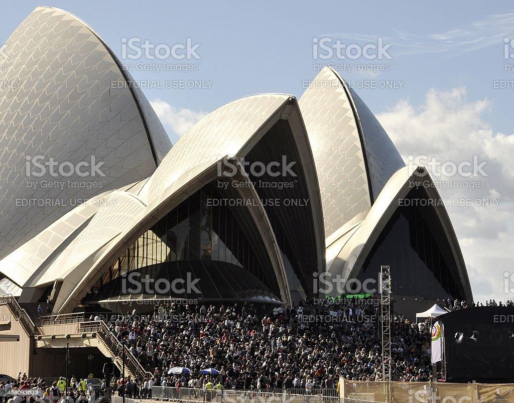 Outdoor event Sydney Opera royalty-free stock photo