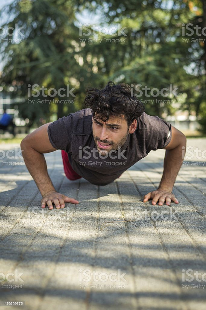 Outdoor exercise royalty-free stock photo