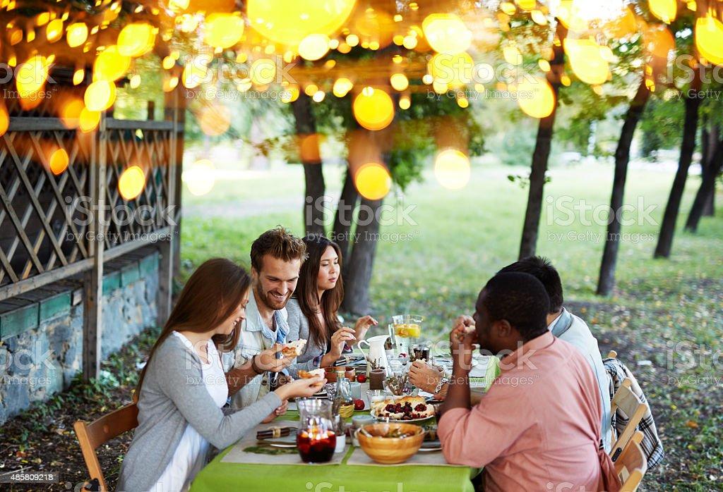 Outdoor feast stock photo