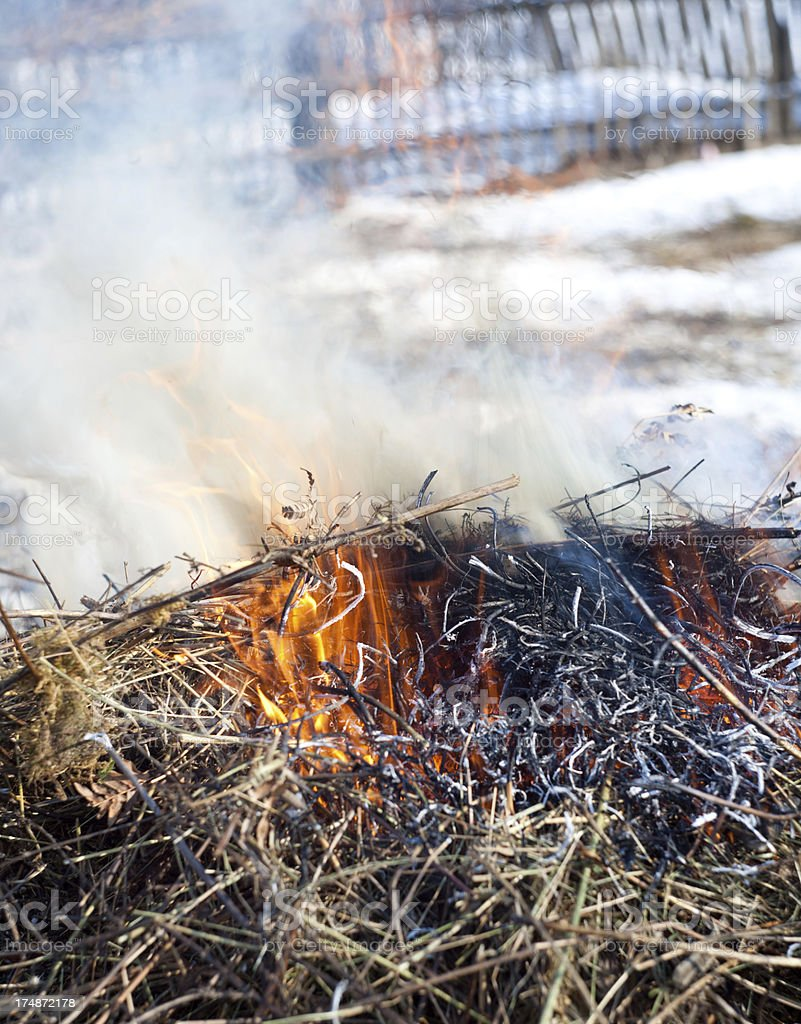 Outdoor Fire royalty-free stock photo