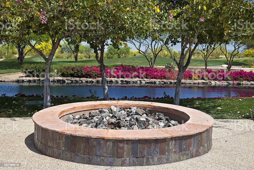 Outdoor Fire Pit royalty-free stock photo