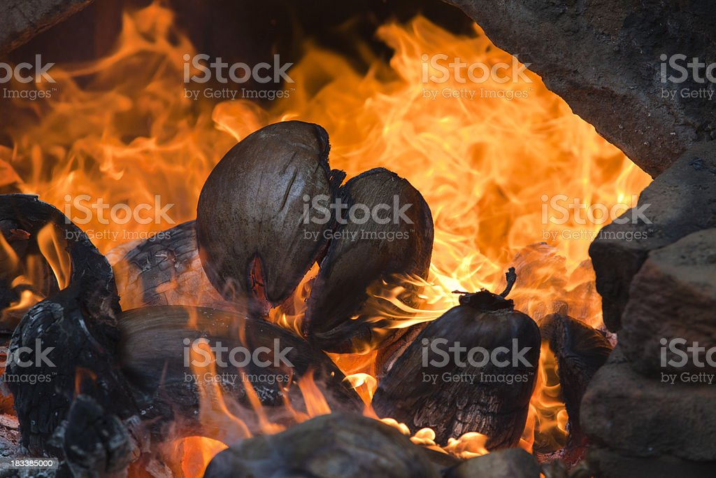 Outdoor Fireplace royalty-free stock photo