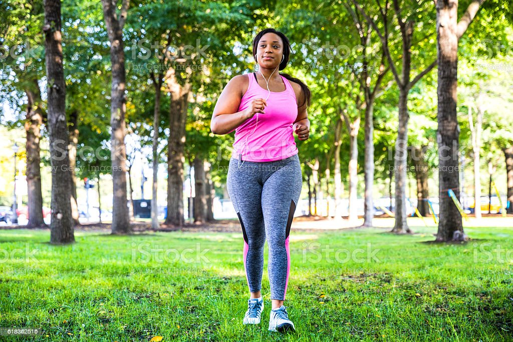 Outdoor fitness activities in the city - Chicago - USA stock photo