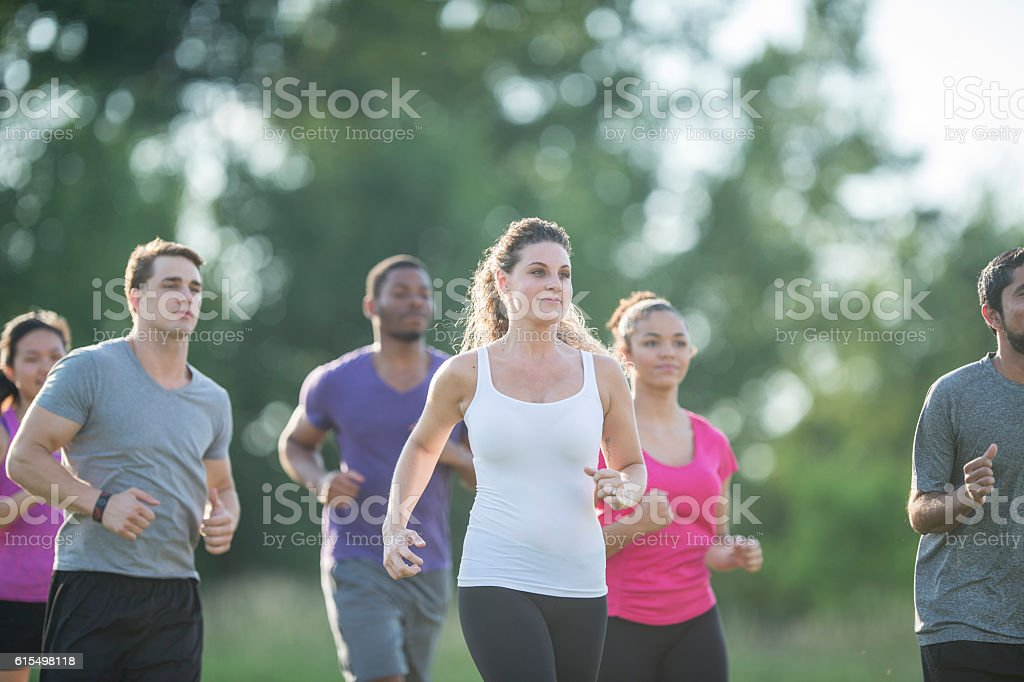 Outdoor Fitness at the Park stock photo