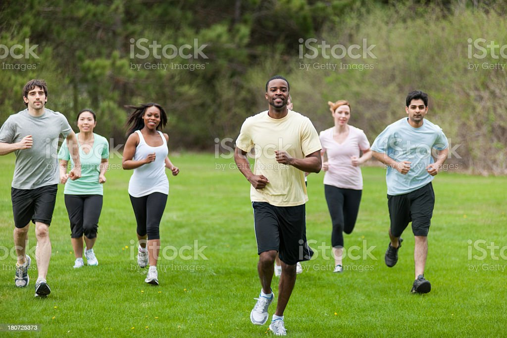 Outdoor Fitness Group royalty-free stock photo