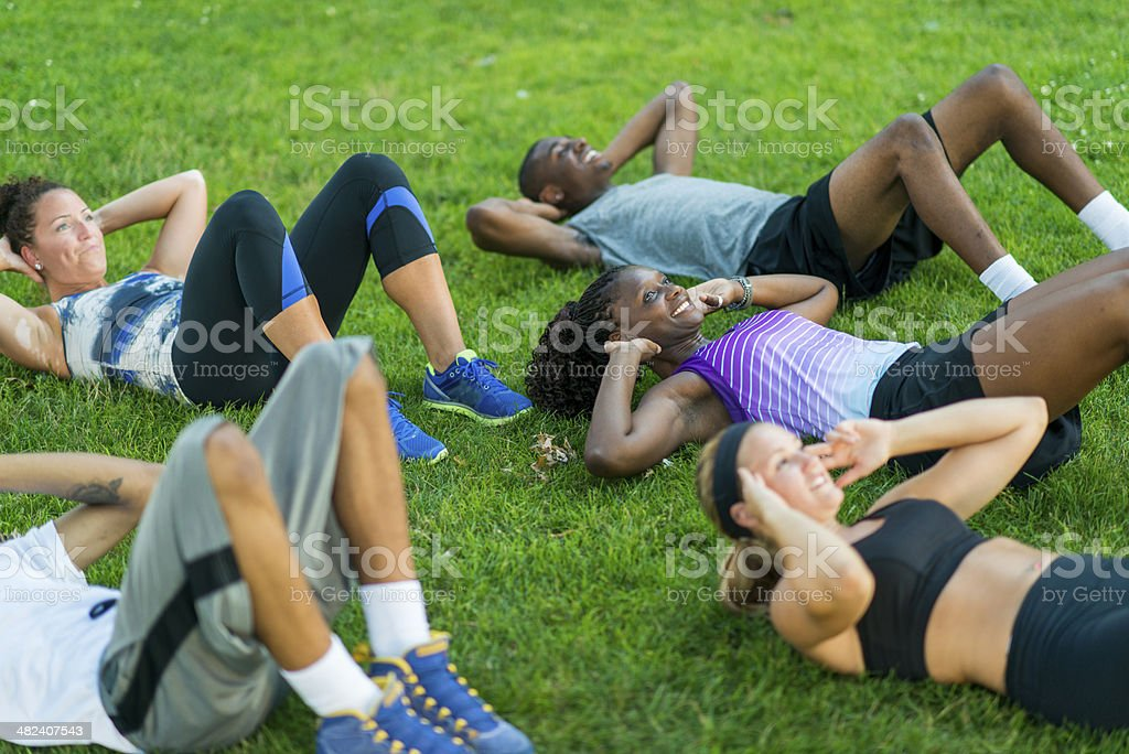 Outdoor Fitness royalty-free stock photo