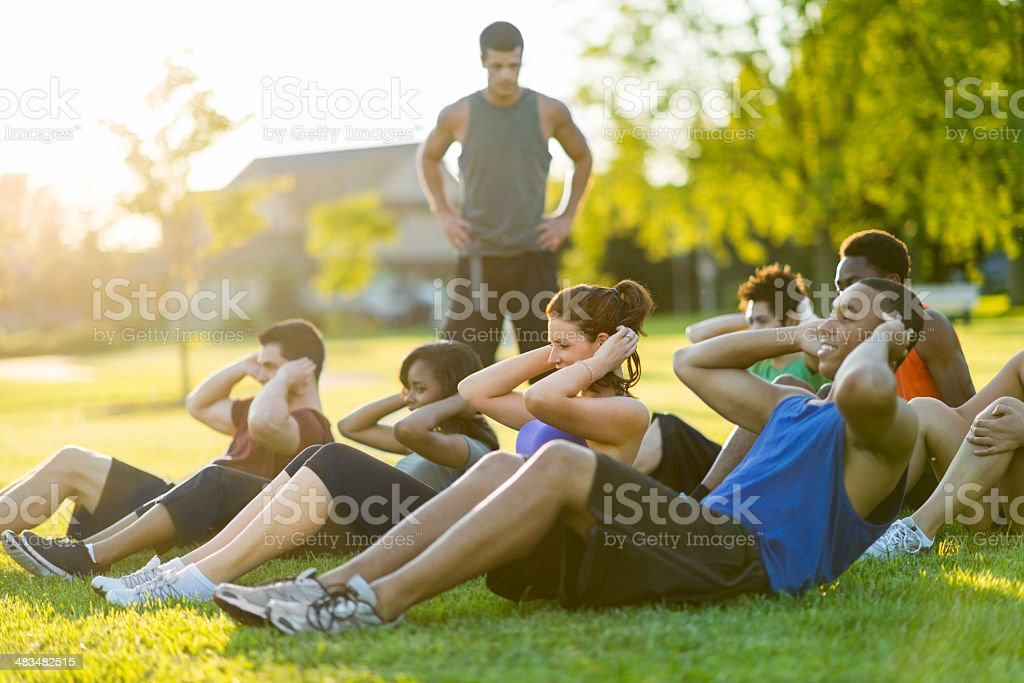 Outdoor Fitness stock photo