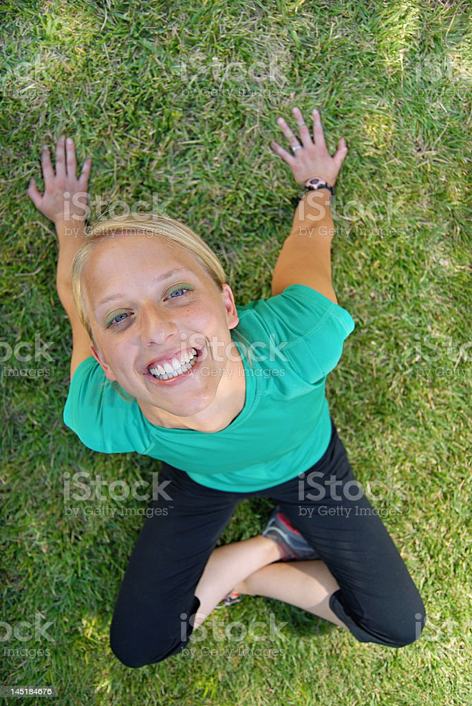 Outdoor fitness portrait royalty-free stock photo