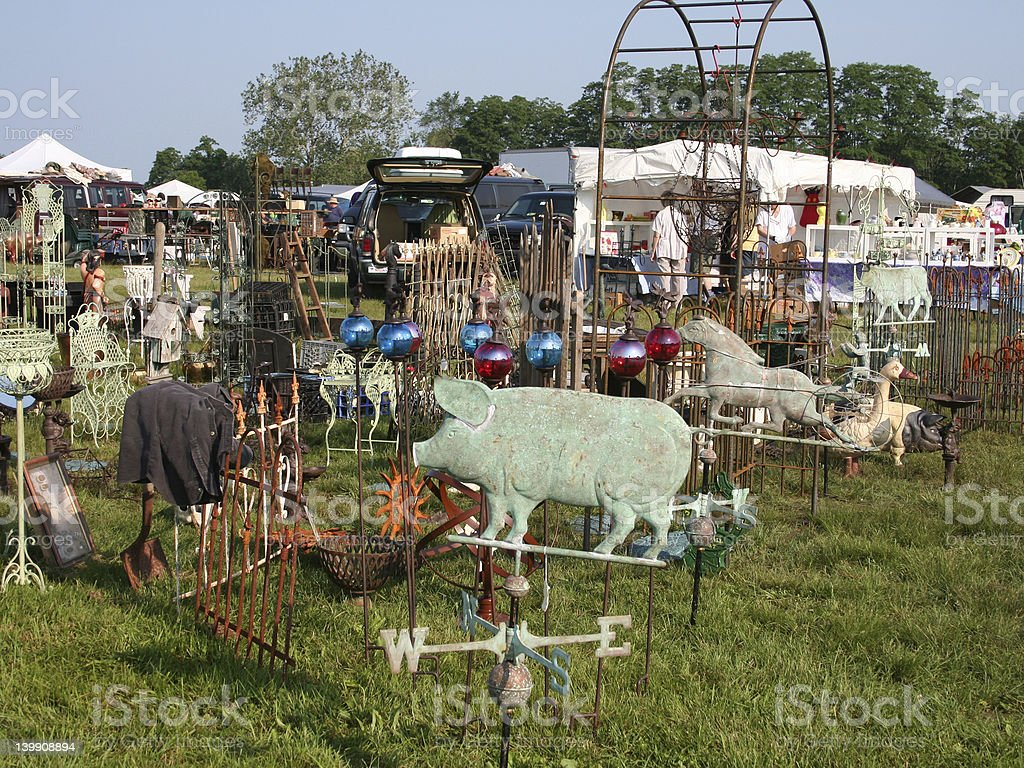 Outdoor Flea Market stock photo