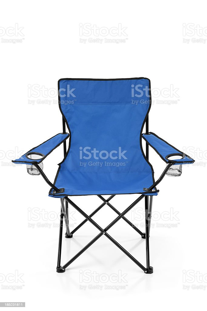 Outdoor Folding Chair stock photo