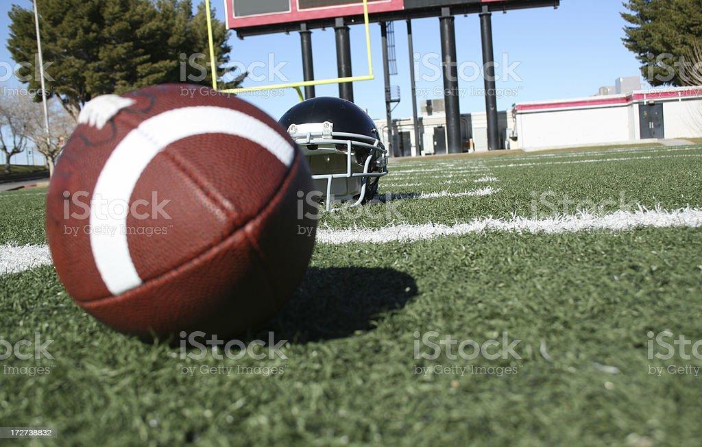 Outdoor football field stock photo