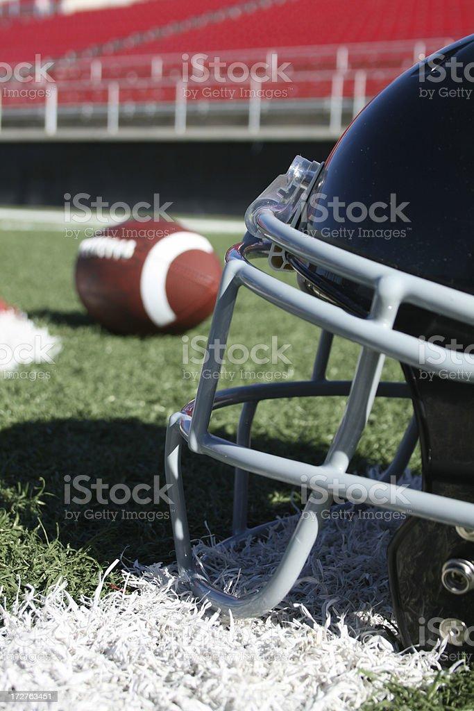 Outdoor football field royalty-free stock photo