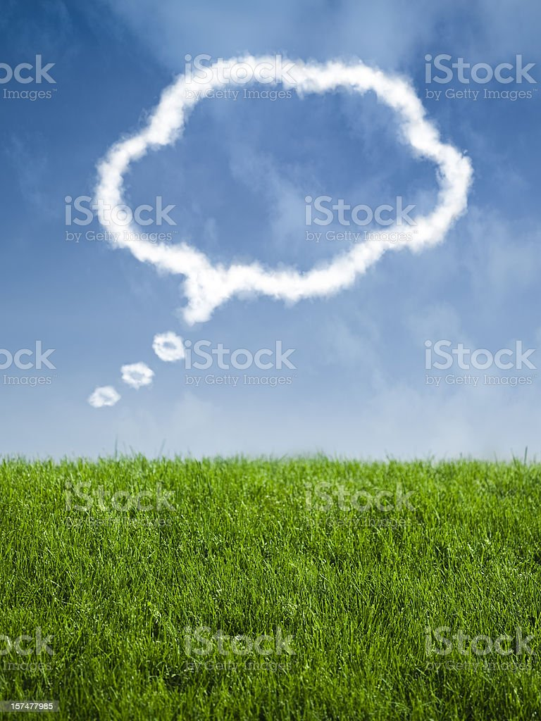 Outdoor fresh air thinking and creativity background royalty-free stock photo