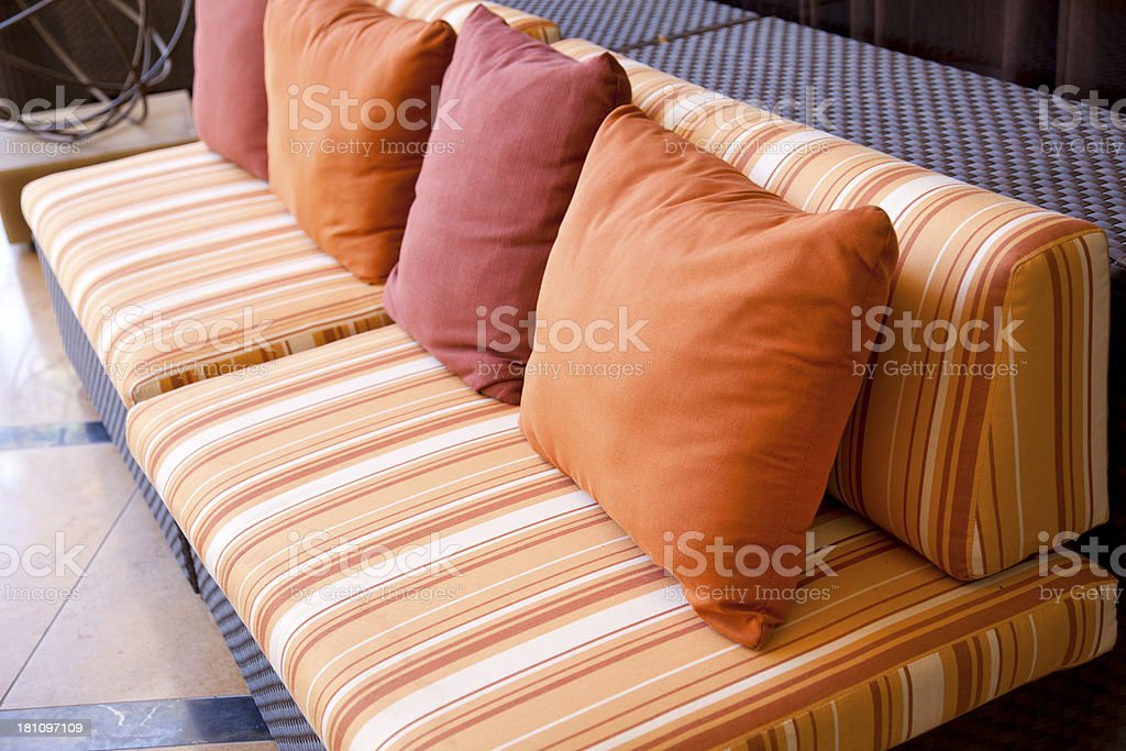 Outdoor furniture stock photo