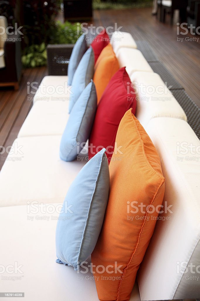 Outdoor furniture royalty-free stock photo