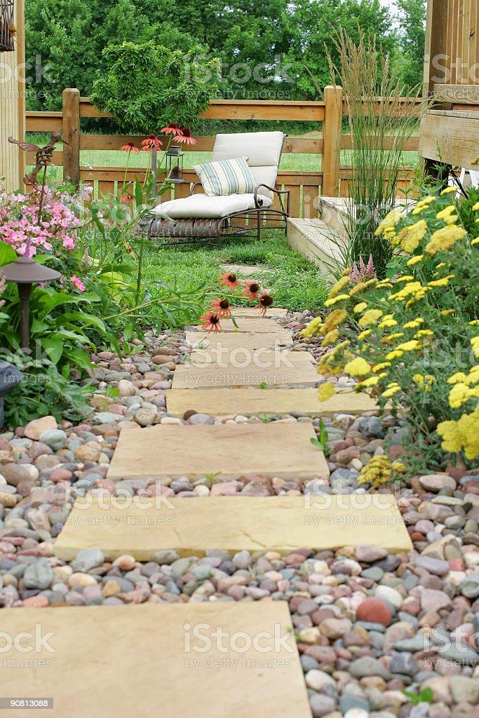 Outdoor Garden Path royalty-free stock photo