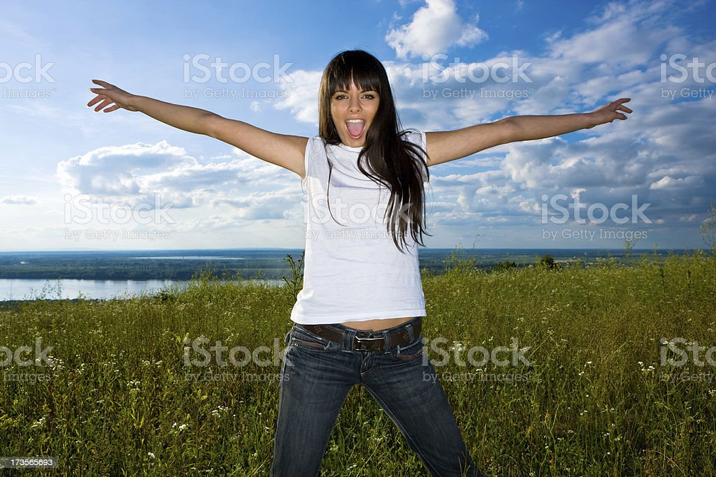 Outdoor girl royalty-free stock photo