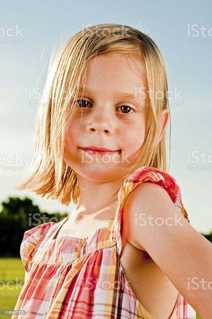 Outdoor Girl Series stock photo