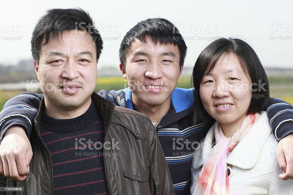 Outdoor happy Asian family royalty-free stock photo